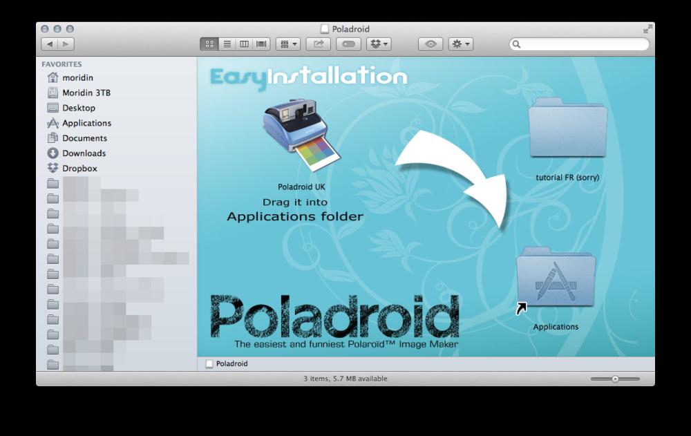 DMG install Polandroid