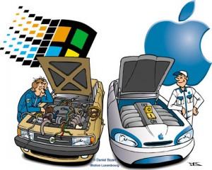 Mac vs. PC w wersji wehikularnej