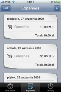 Pennies - 05 expense list
