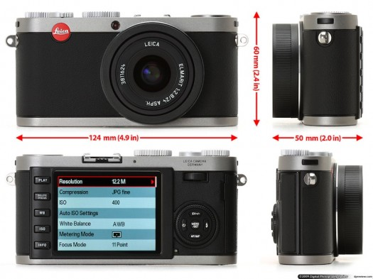 Leica X1 z każdej strony