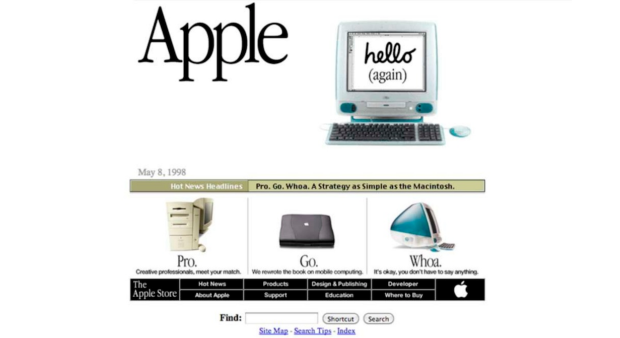 15 lat Apple com Hello Again