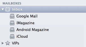 OS X mail 6.2 default account