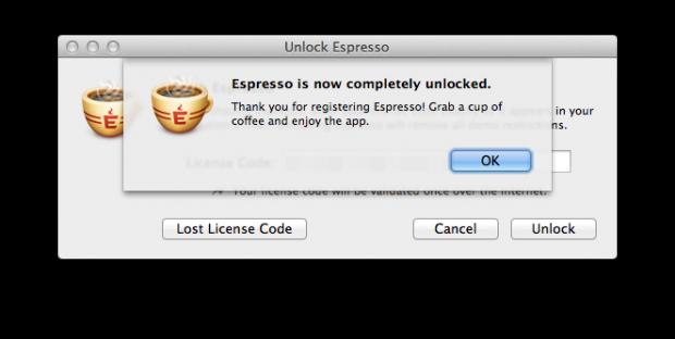 Espresso 2 unlocked