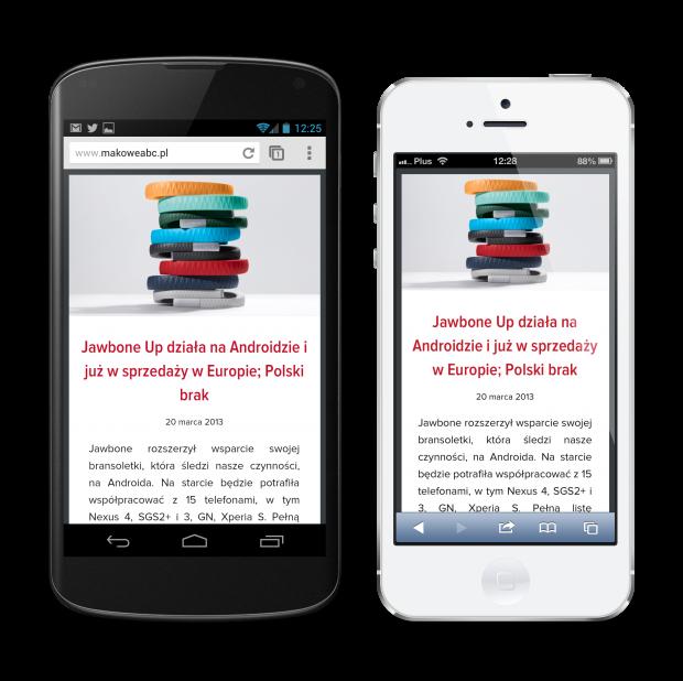 Makowe ABC on Nexus 4 and iPhone 5