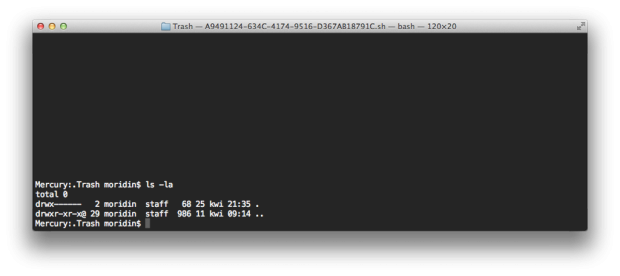 OS X Terminal Trash
