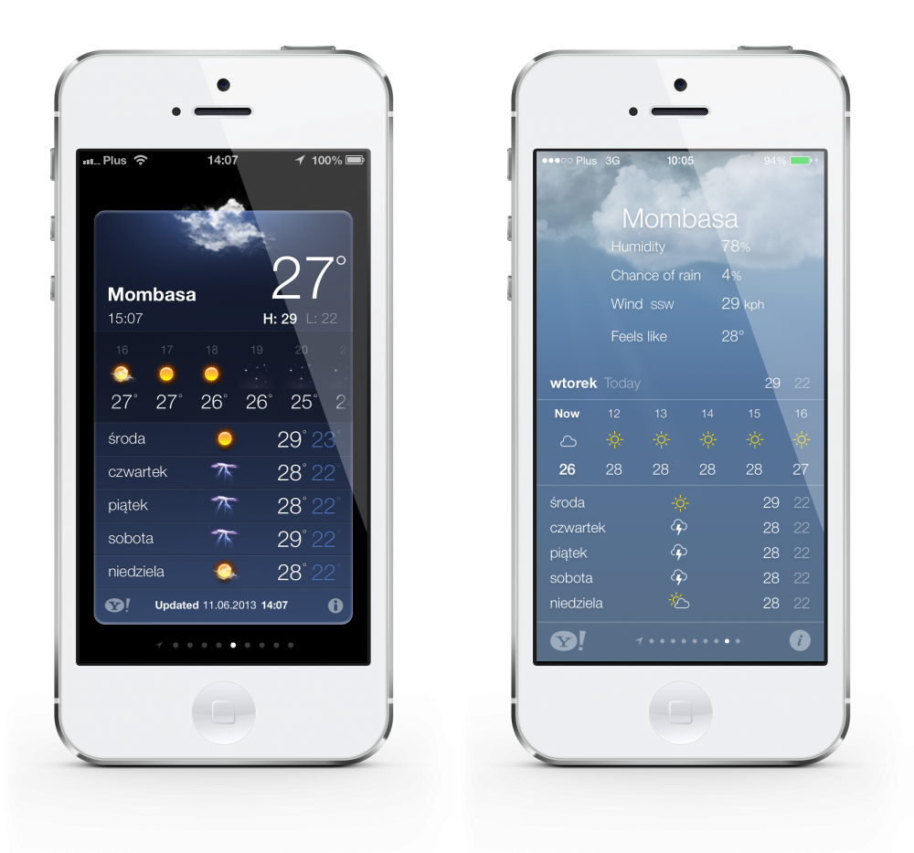 iOS 6 vs 7 weather mombasa