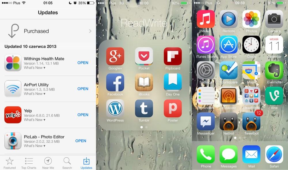 iOS 7 AppStore Folder Homescreen