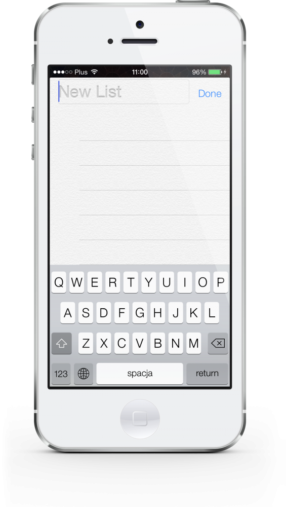 iOS 7 keyboard white