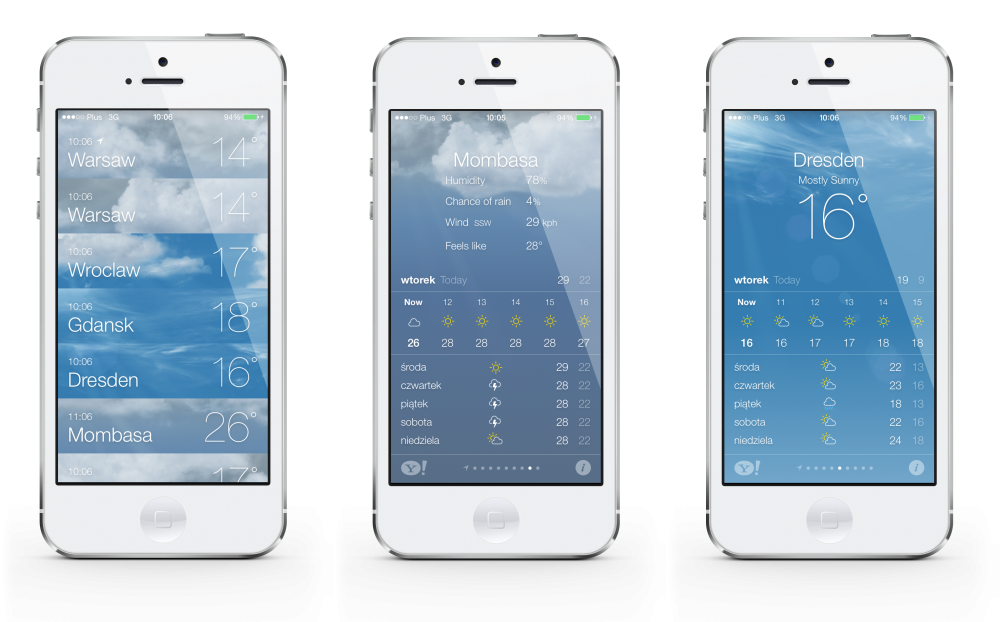 iOS 7 weather