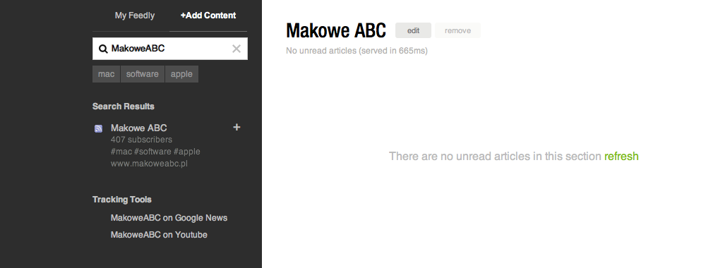 Feedly Add Makowe ABC
