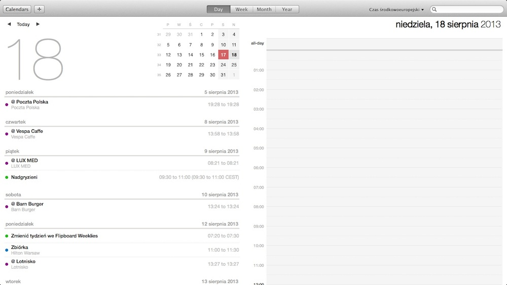 OS X Mavericks - Calendar 01