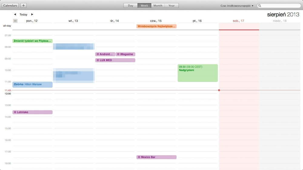 OS X Mavericks - Calendar 02