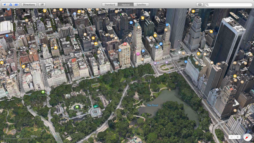 OS X Mavericks - Maps 01