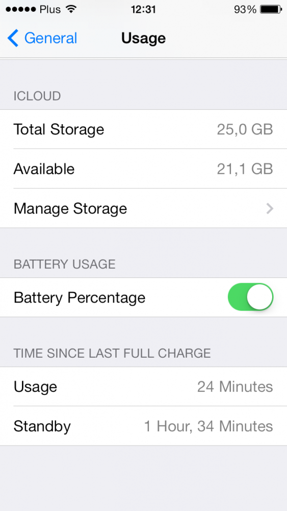 iOS 7 beta 4 Usage