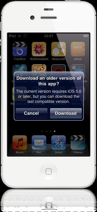 iOS legacy apps