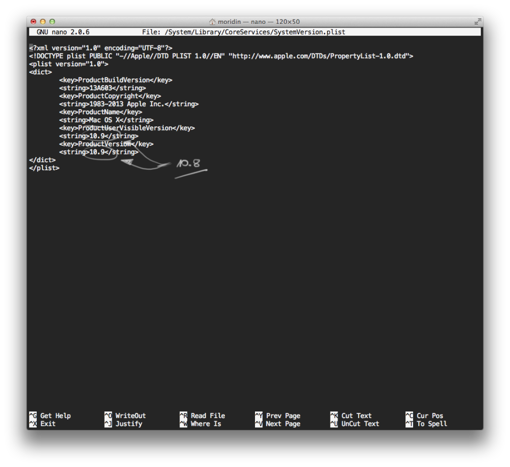 OS X Mavericks install problem MAS to 10.8