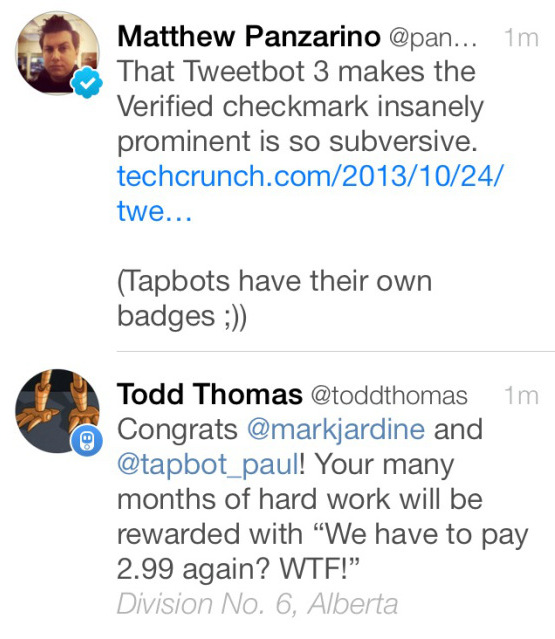 Tweetbot 3 avatars and badges