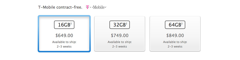 iPhone 5S USA spec