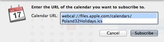 PL Holidays Calendar iCloud 01