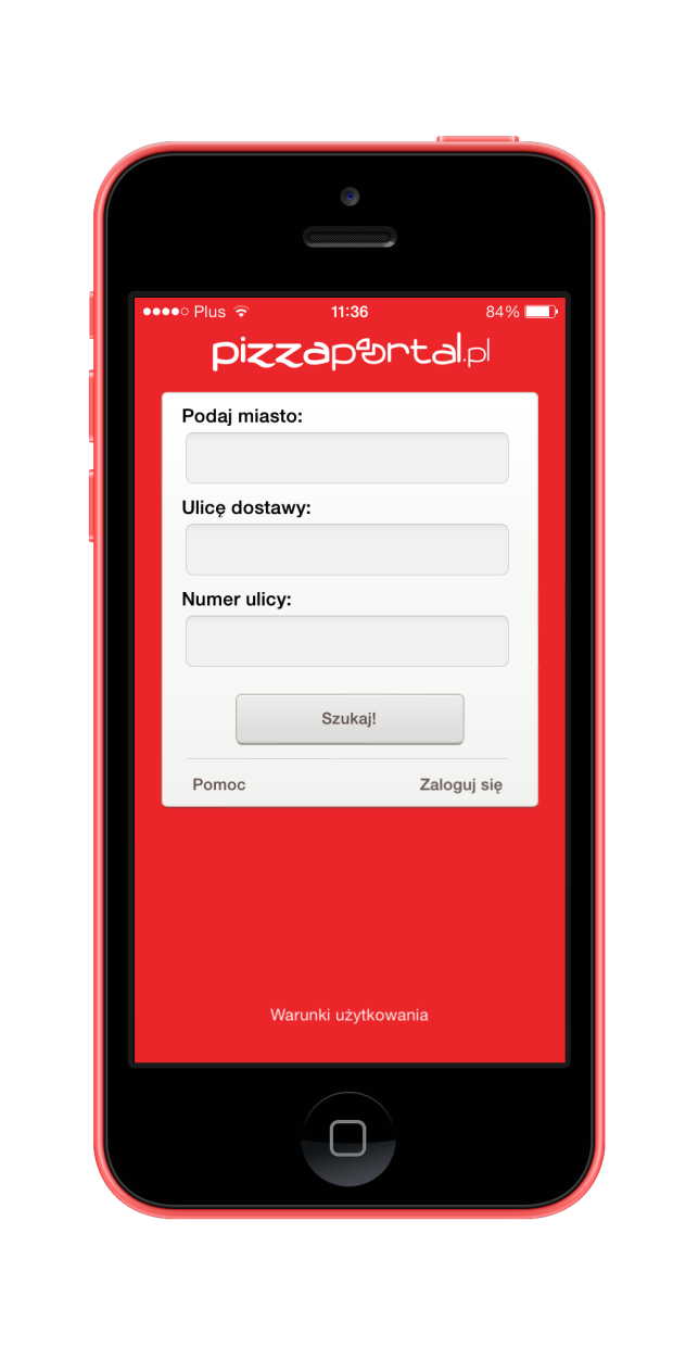 PizzaPortal 01_iphone5c_red_portrait