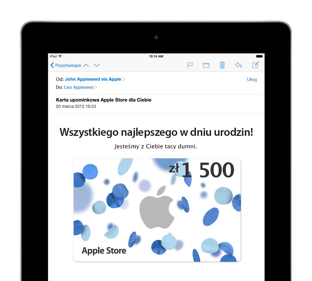 Polskie Karty Upominkowe Apple W Apple Store Makowe Abc