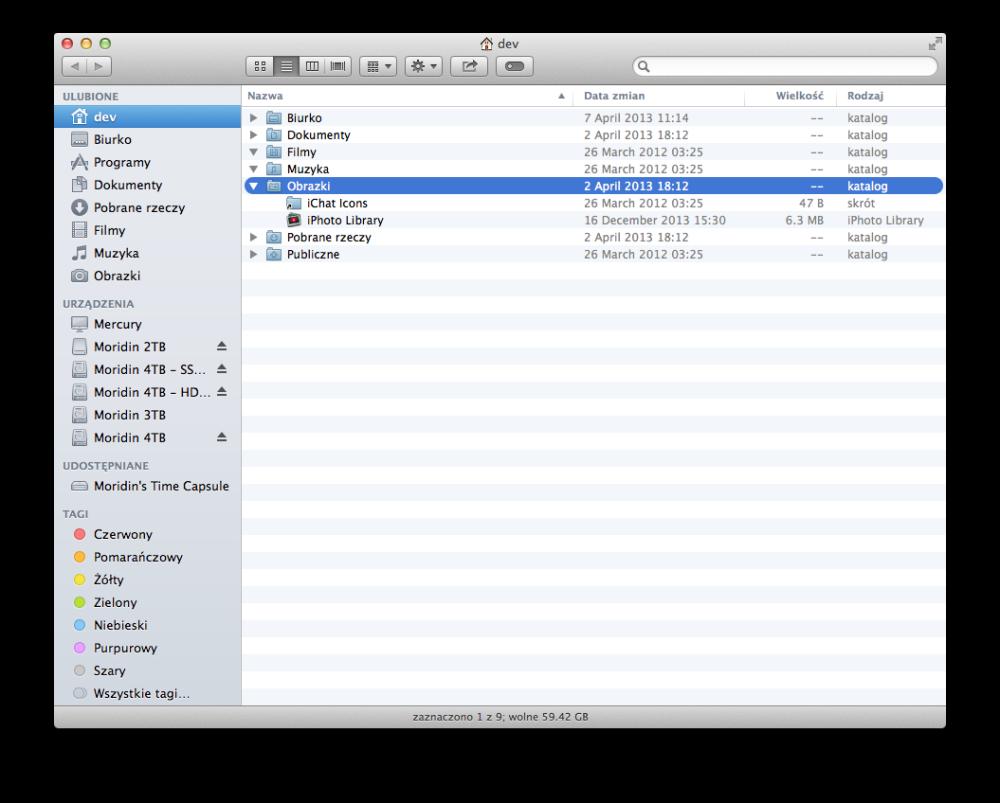 OS X Home Folder