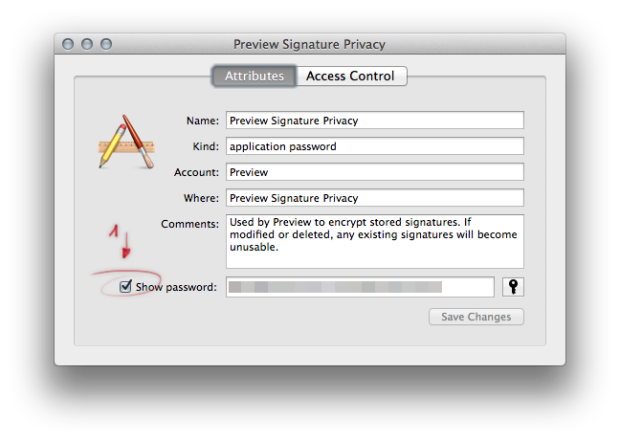 Keychain Access com.Apple.Preview password 02