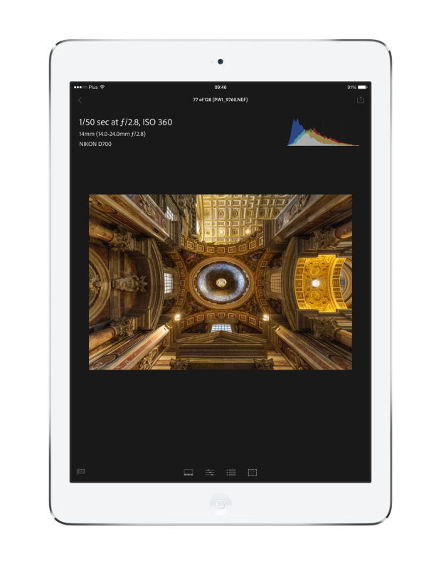LRM photo edit iPad