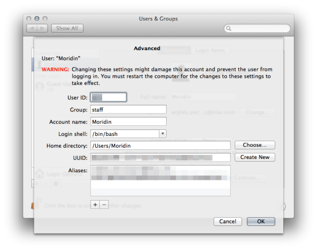 OS X Mavericks username change 01