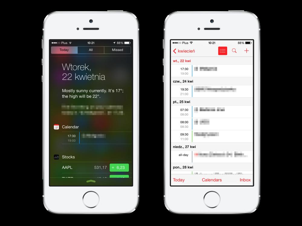 iOS 7 Calendar in Notification Center 01-02