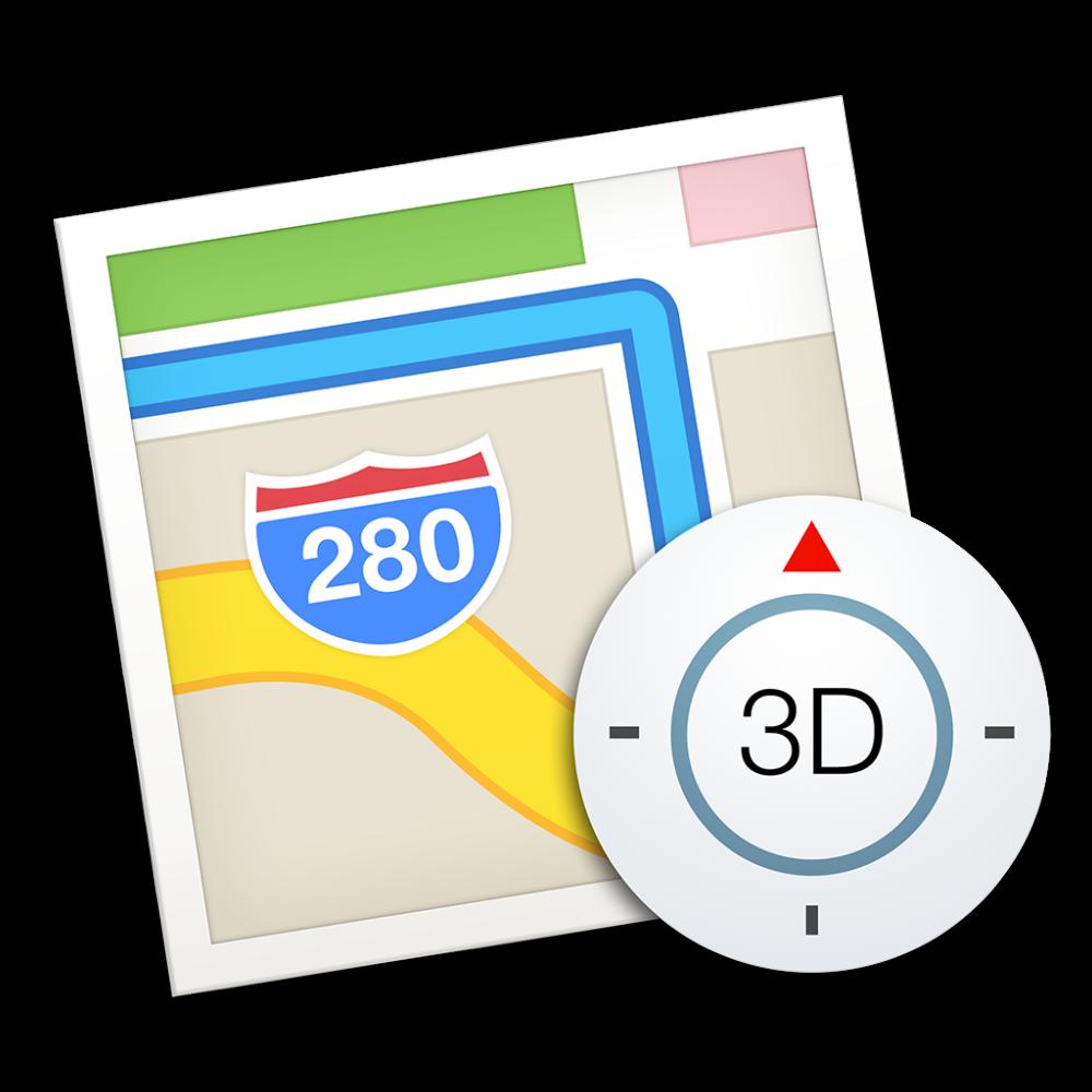 Maps icon OS X Yosemite 1024px