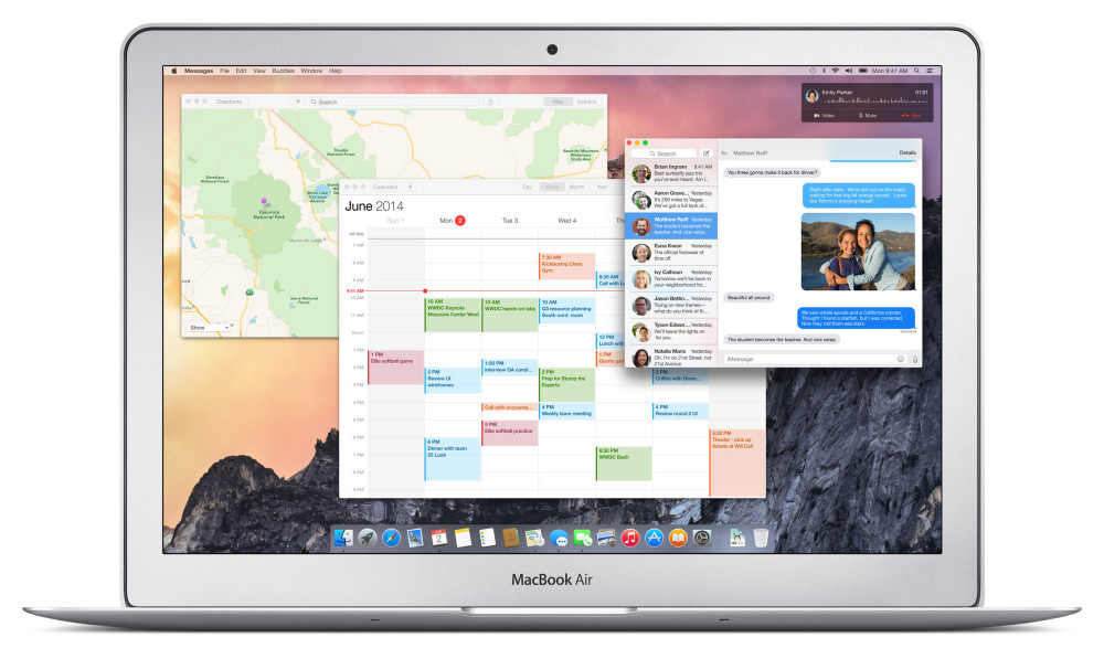 OS X Yosemite Design Hero on MacBook Air