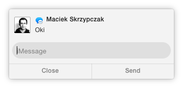 OS X Yosemite Interactive Notification Reply