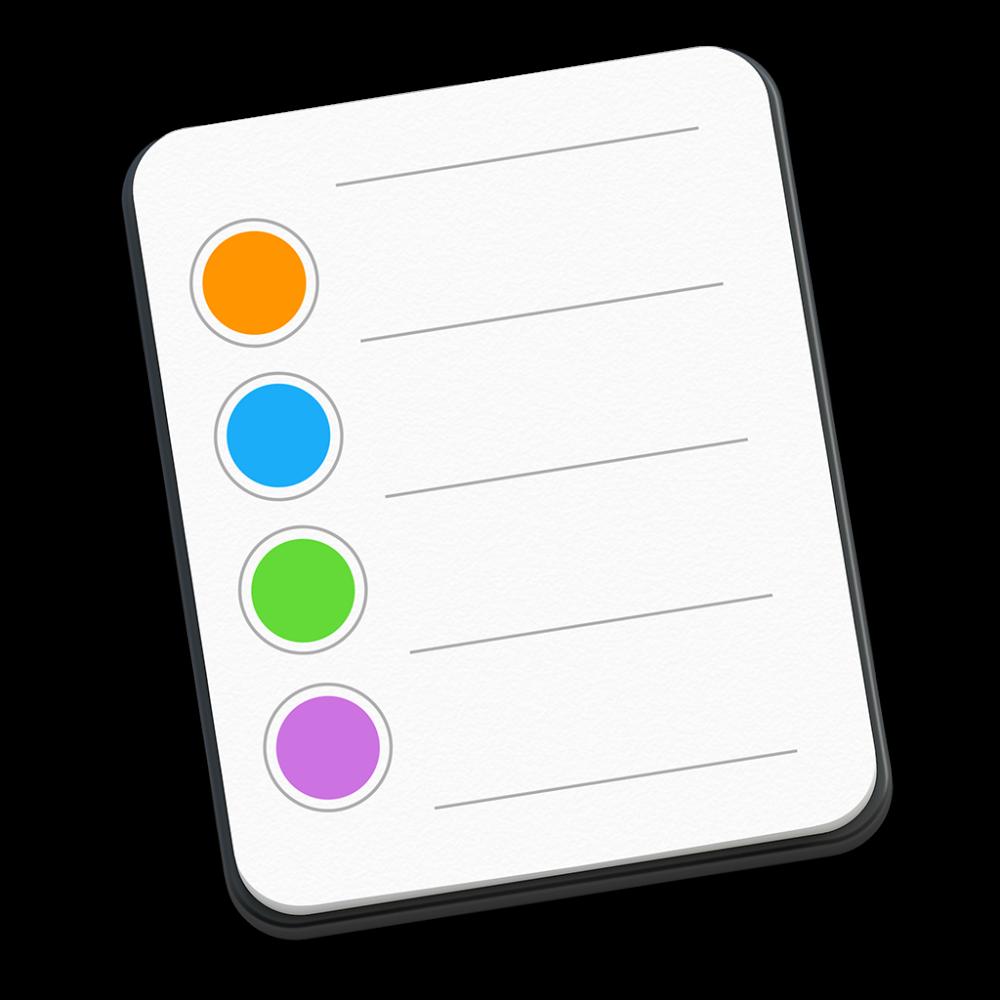 Reminders icon OS X Yosemite 1024px