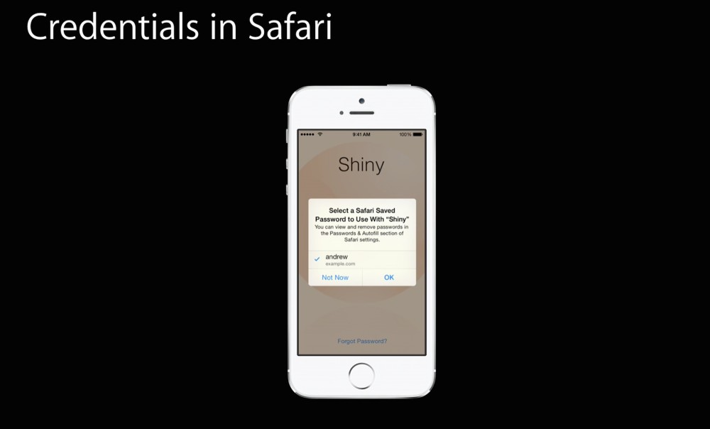 Safari autofil credentials iOS 8