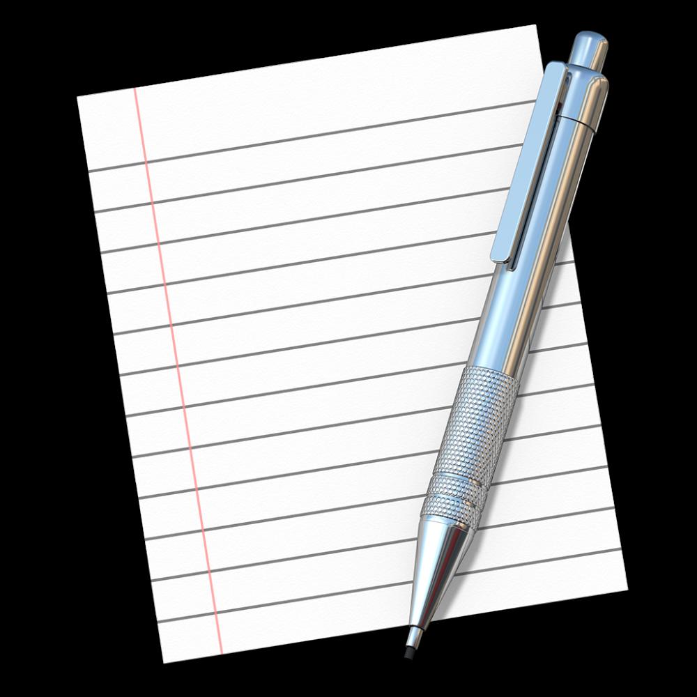 TextEdit icon OS X Yosemite 1024px