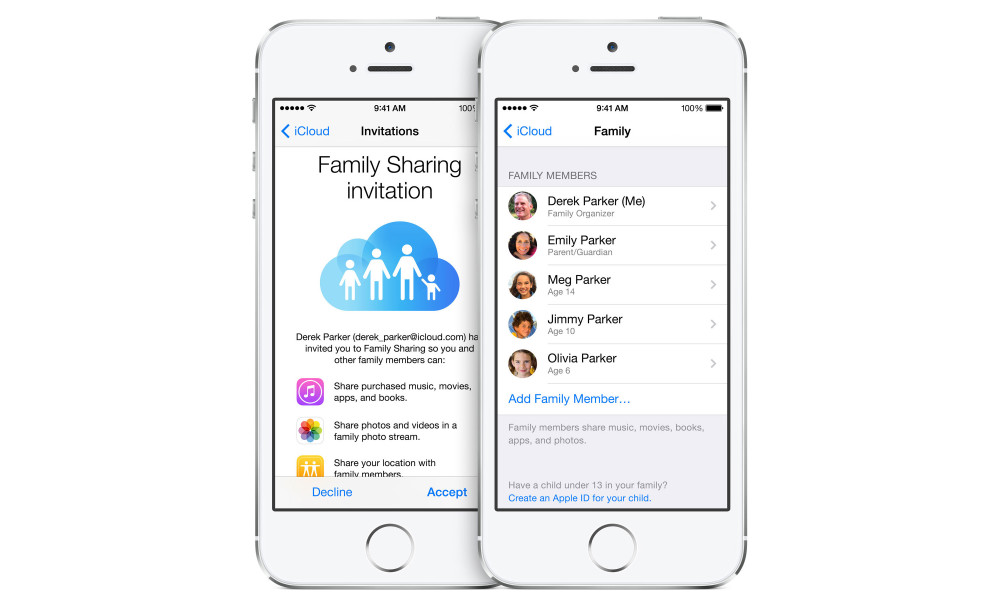 iOS 8 Family Sharing Hero