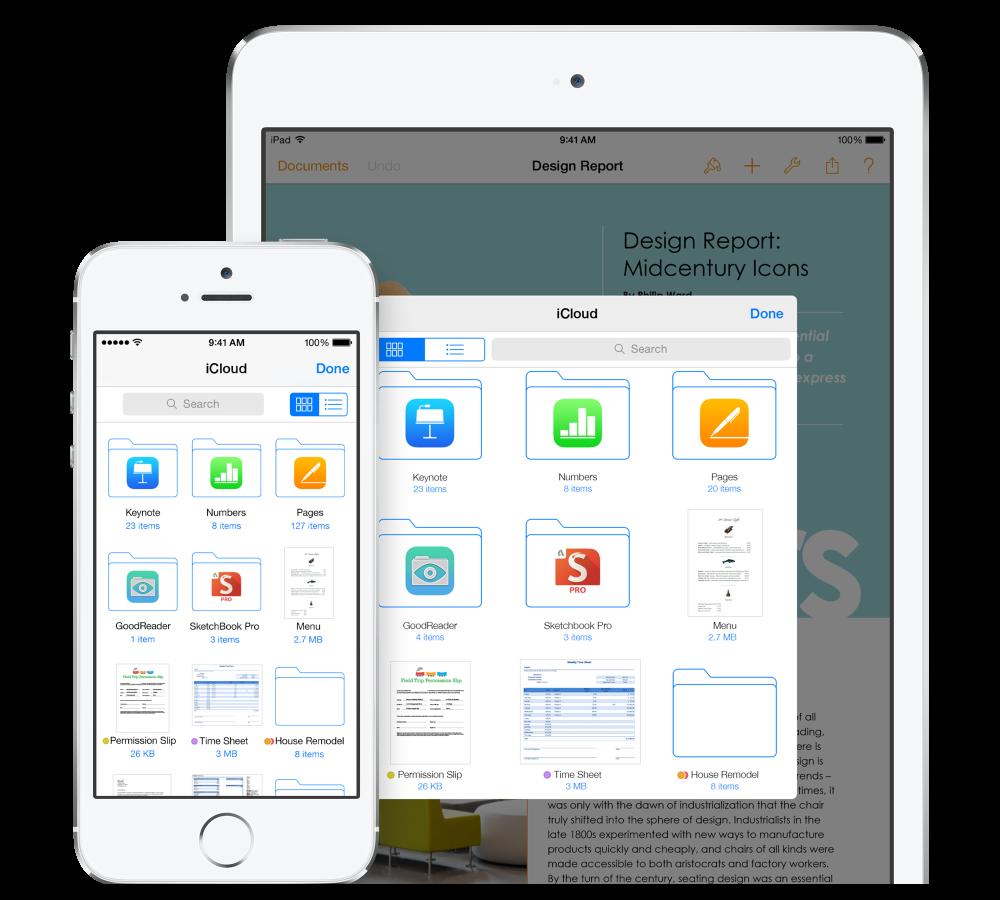 iOS 8 iCloud Drive Hero