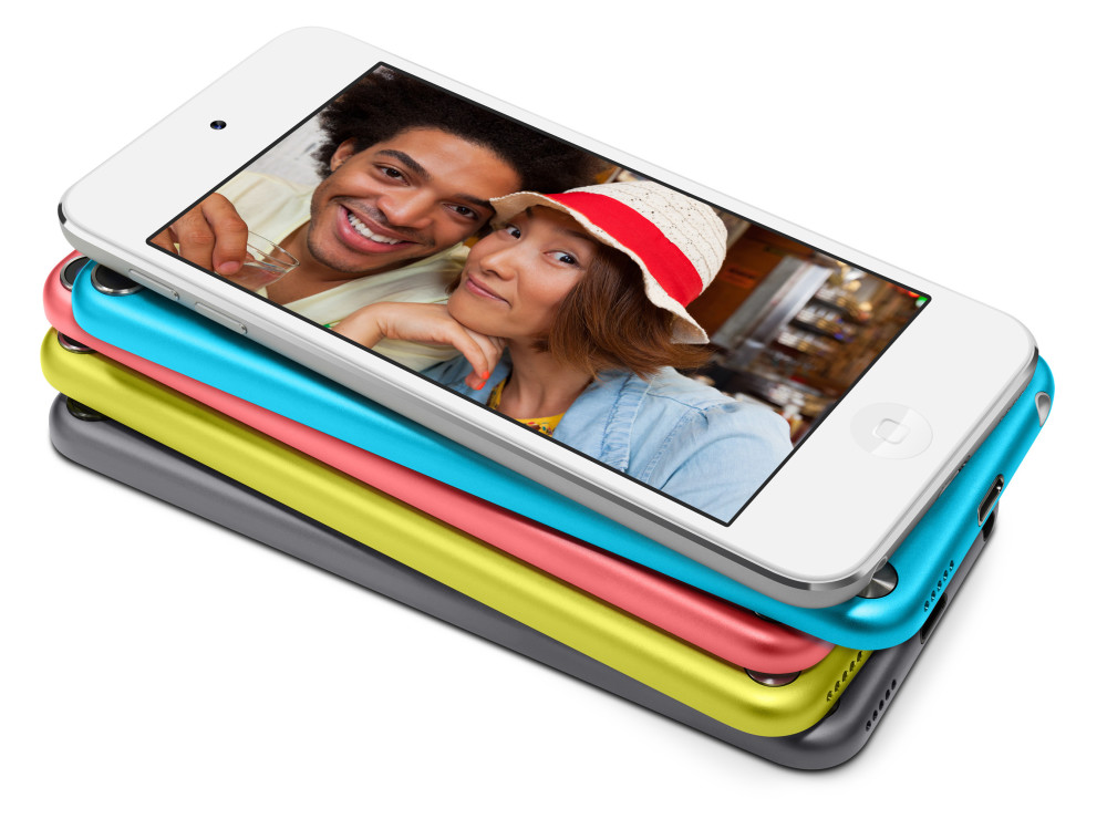 iPod touch 5gen stacked colours