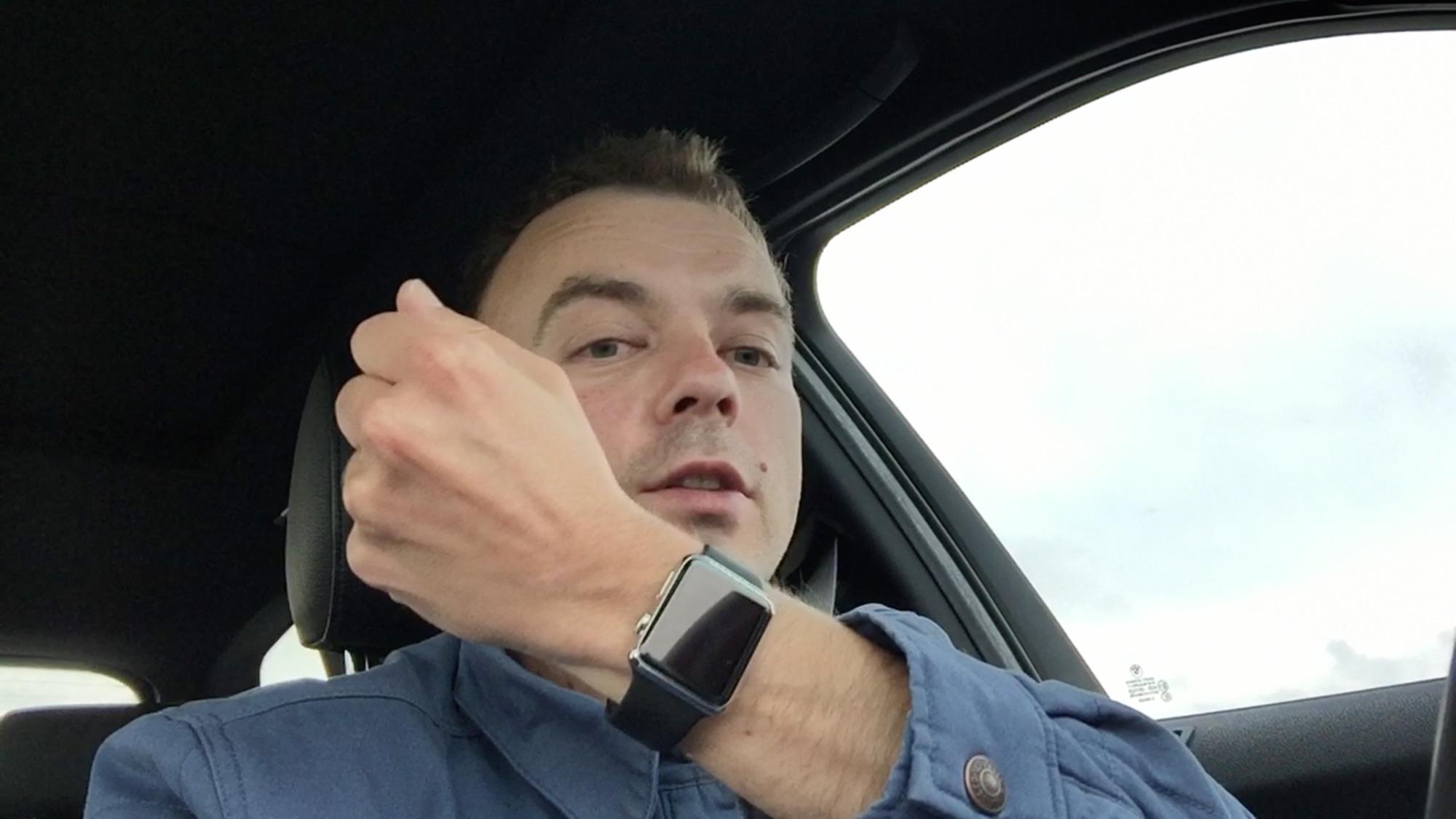 Jazda po Apple Watch