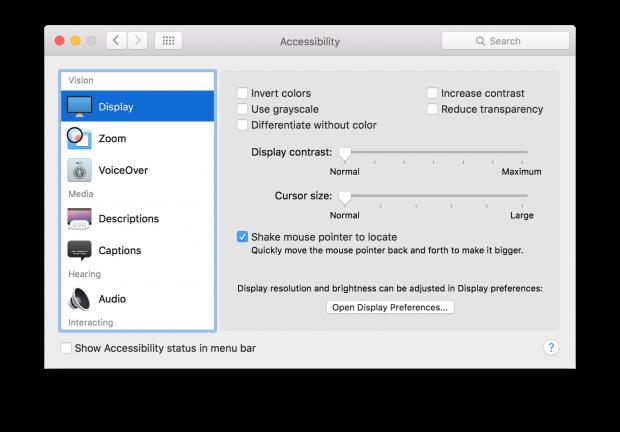 OS X El Capitan beta 7 Display Prefs