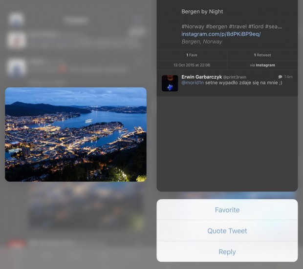 Tweetbot 4.0.2 - 3D Touch