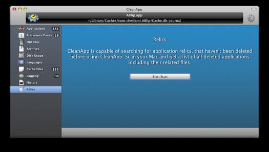 CleanApp - relics