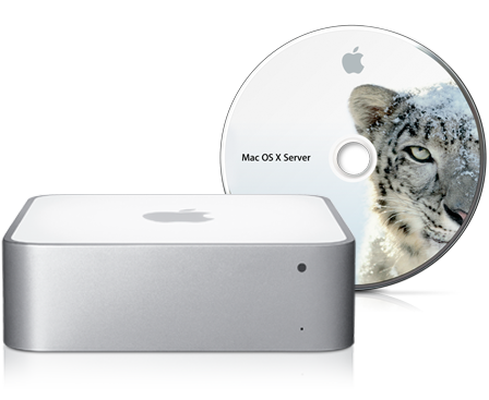 Mac mini z OS X Snow Leopard Server