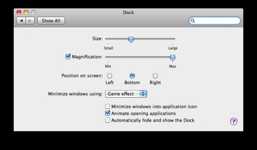 SL - minimize to app in dock