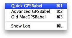 Wybieramy opcję Quick GPSBabel